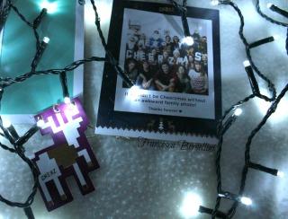 Il balocco di carta da appendere e la cartolina :)